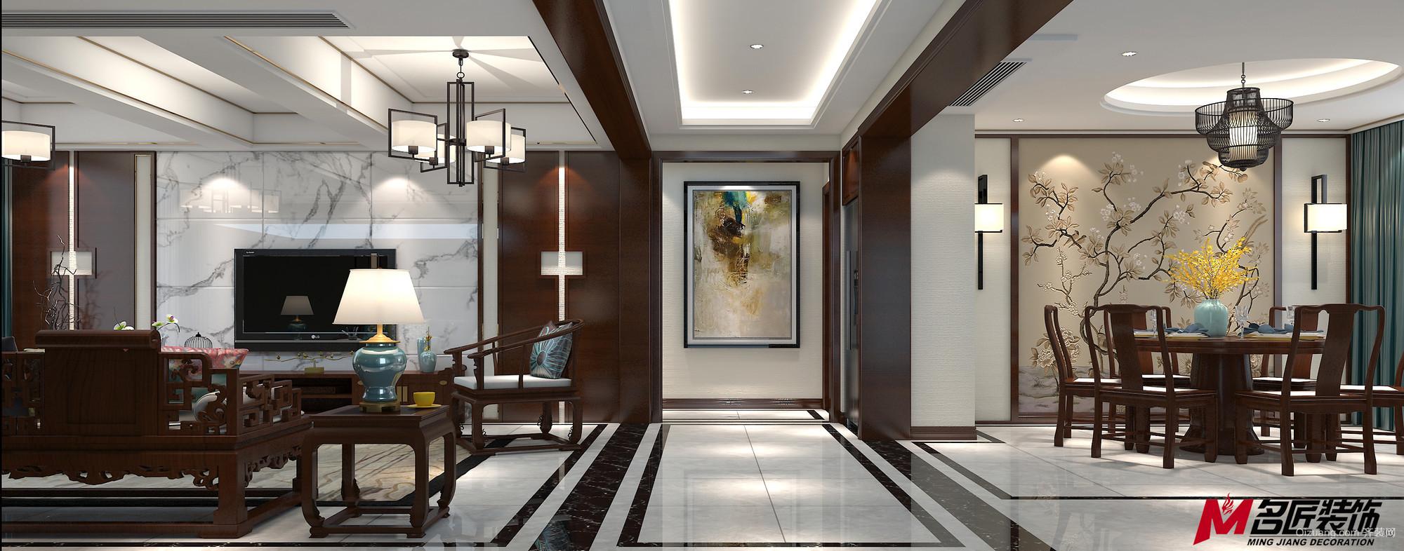 太平洋城中城中式风格装修效果图实景图