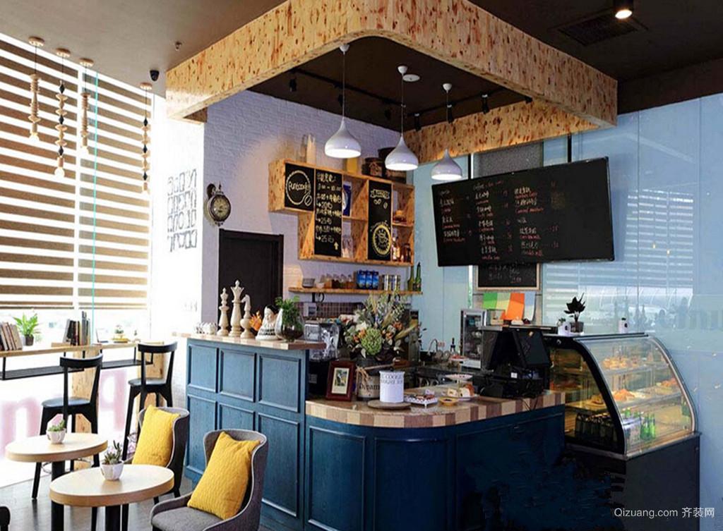 咖啡馆现代简约装修效果图实景图