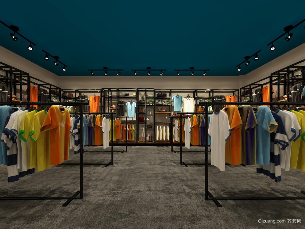 服装店混搭风格装修效果图实景图