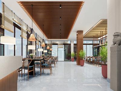 中牟中式餐厅装修设计案例