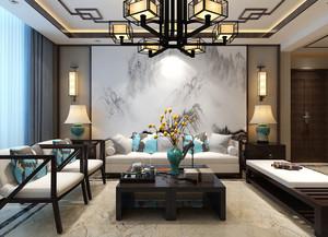 郑州150㎡中式风格装修效果图