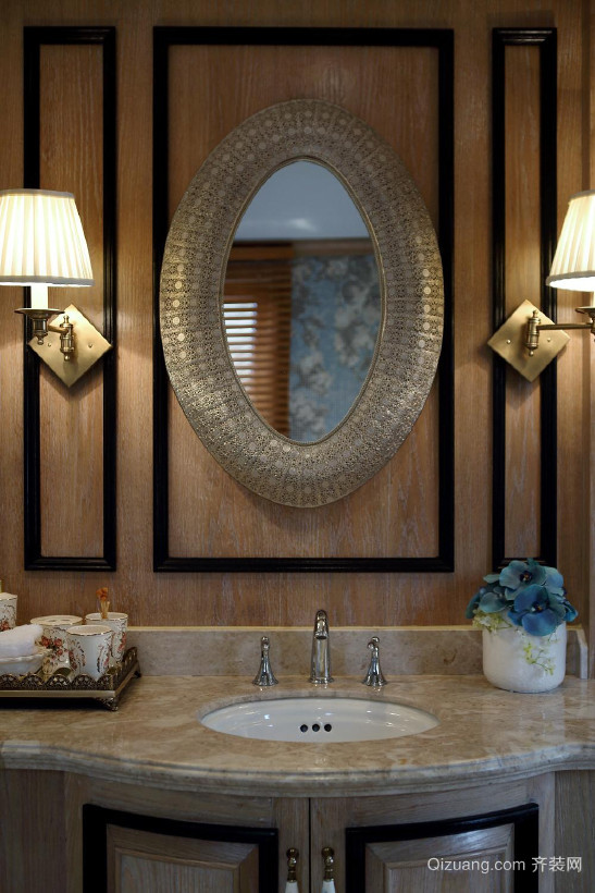 马斯蓝德别墅美式风格装修效果图实景图