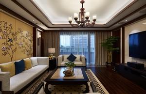 郑州180㎡中式风格装修效果图