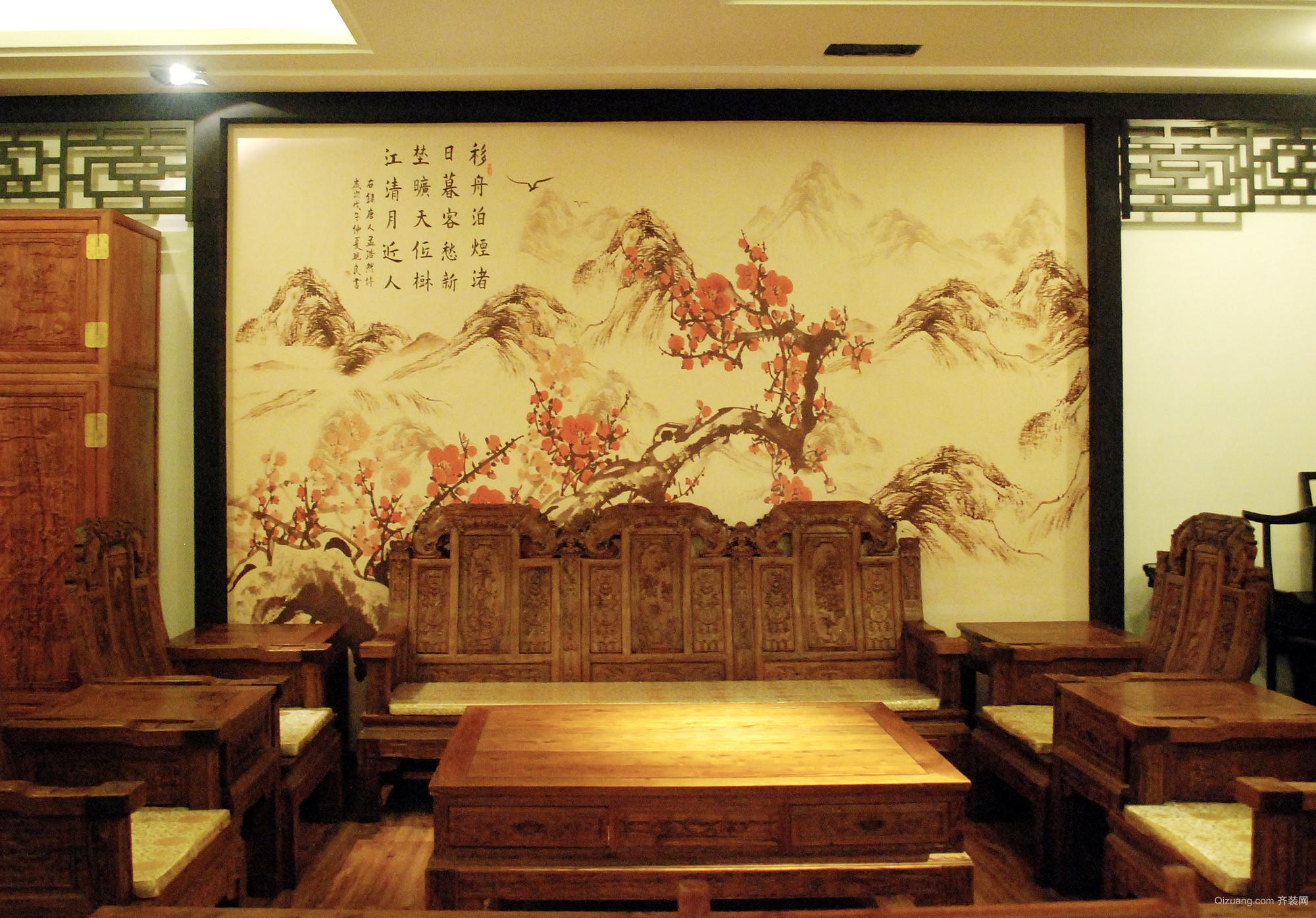 海博家具展厅中式风格装修效果图实景图