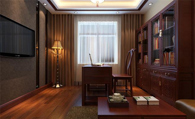 众森红谷一品中式风格装修效果图实景图