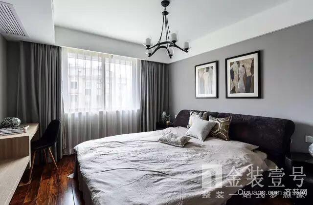 东方龙城采薇苑美式风格装修效果图实景图