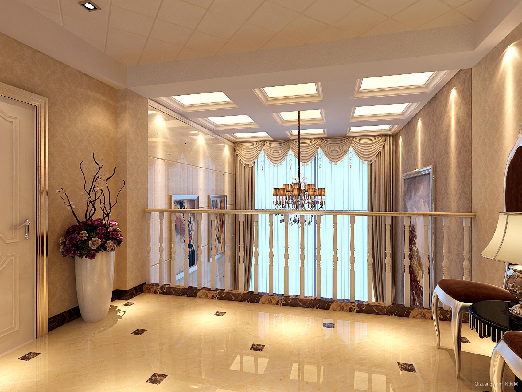 瑞尔国际复式楼现代简约装修效果图实景图