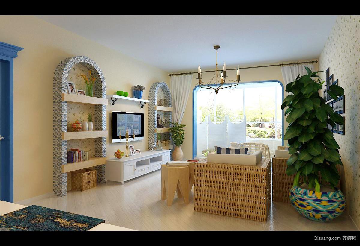 御锦城地中海风格装修效果图实景图