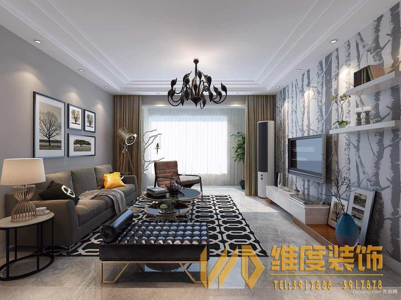 欢乐江山现代简约装修效果图实景图