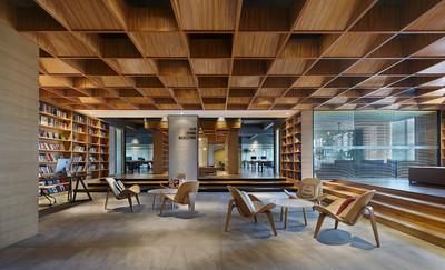 平度图书馆式办公装修设计案例