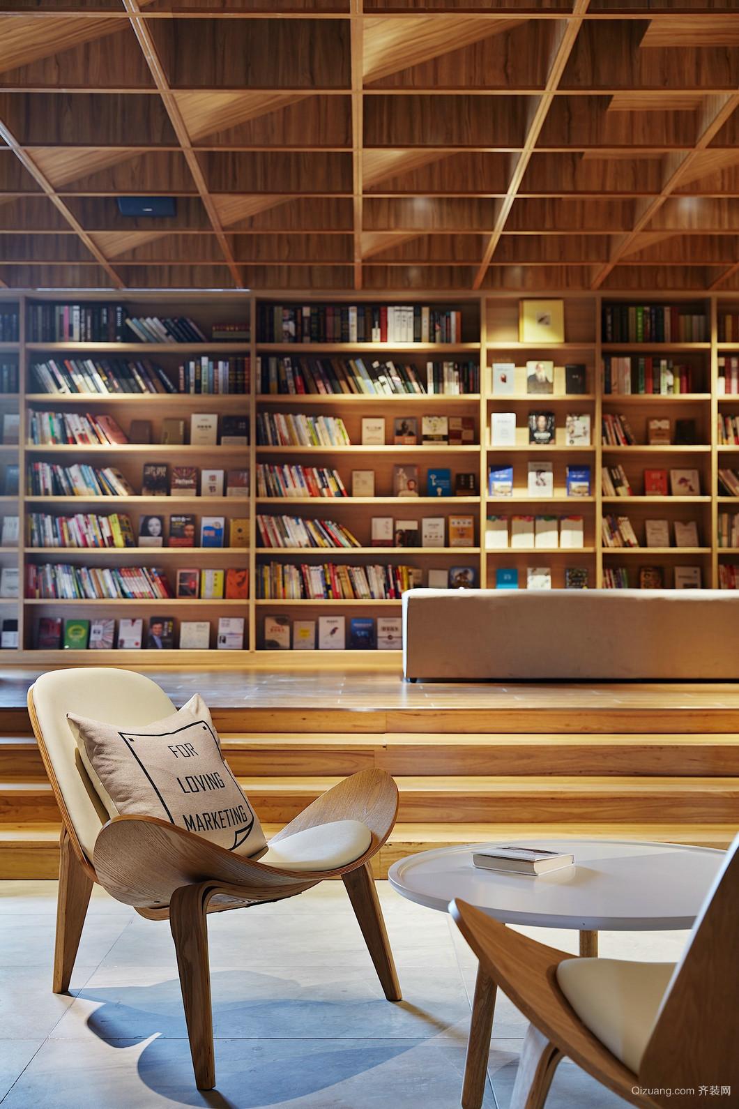 图书馆式办公其他装修效果图实景图