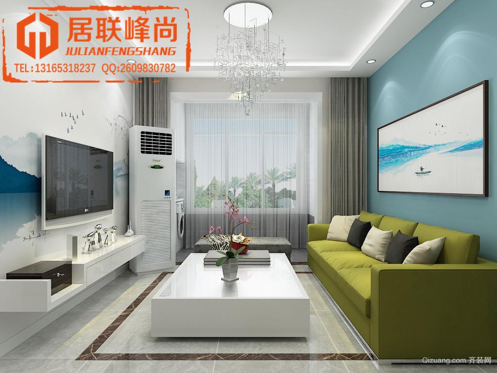 中新国际城现代简约装修效果图实景图