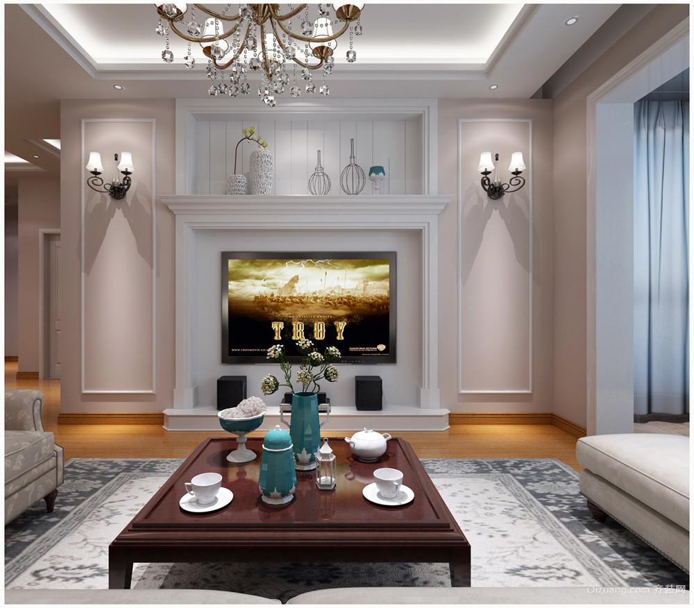 世家新苑美式风格装修效果图实景图