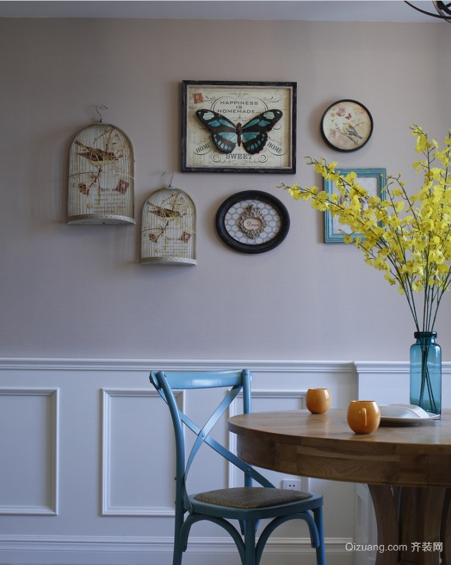 金色米兰美式风格装修效果图实景图