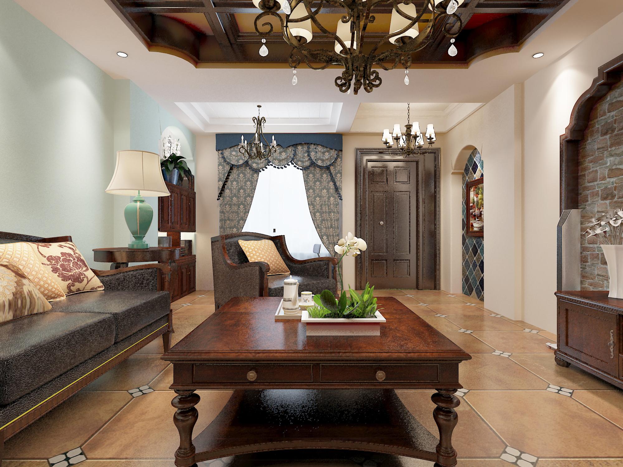 维科皇家花园美式风格装修效果图实景图