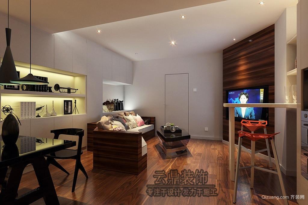 [云鼎装饰]金色水岸单身公寓现代简约装修效果图实景图