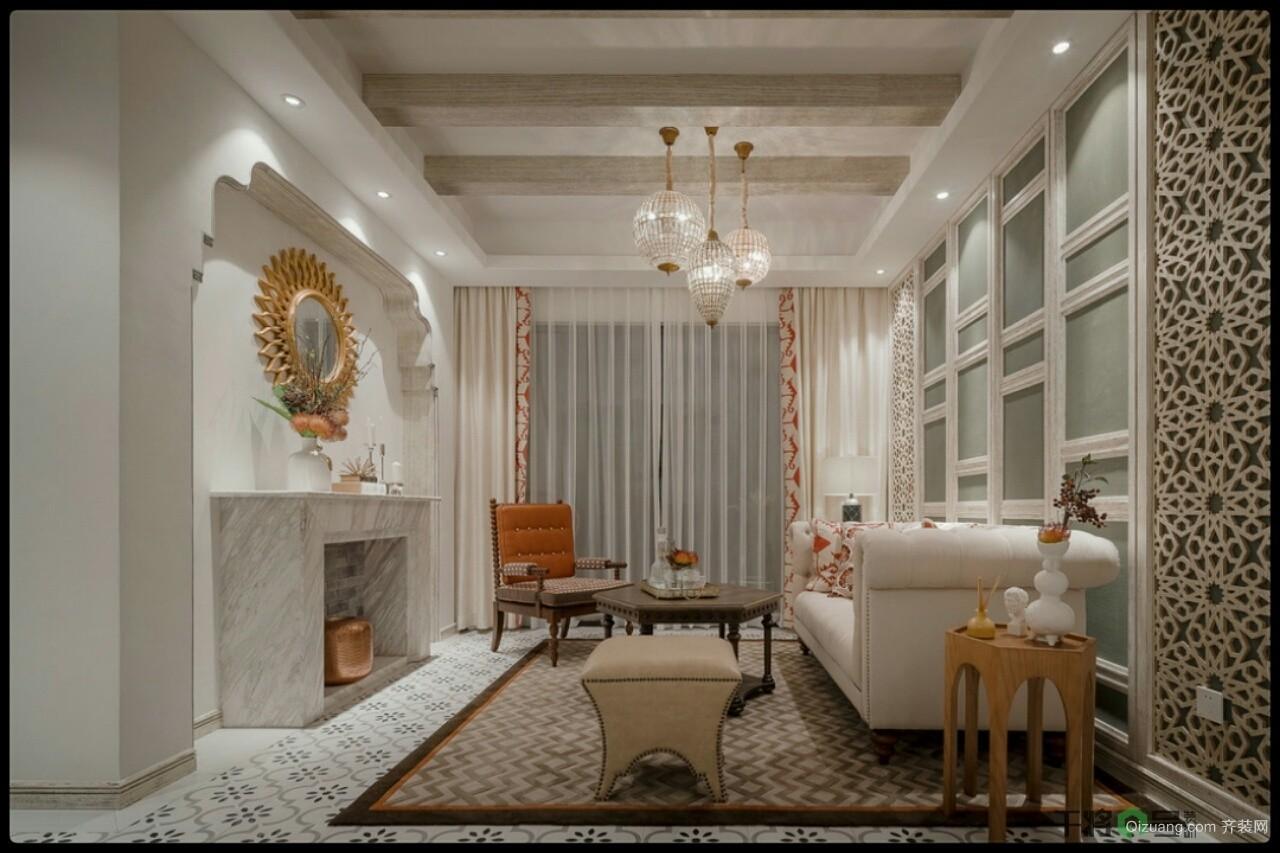 雅戈尔紫玉花园古典风格装修效果图实景图