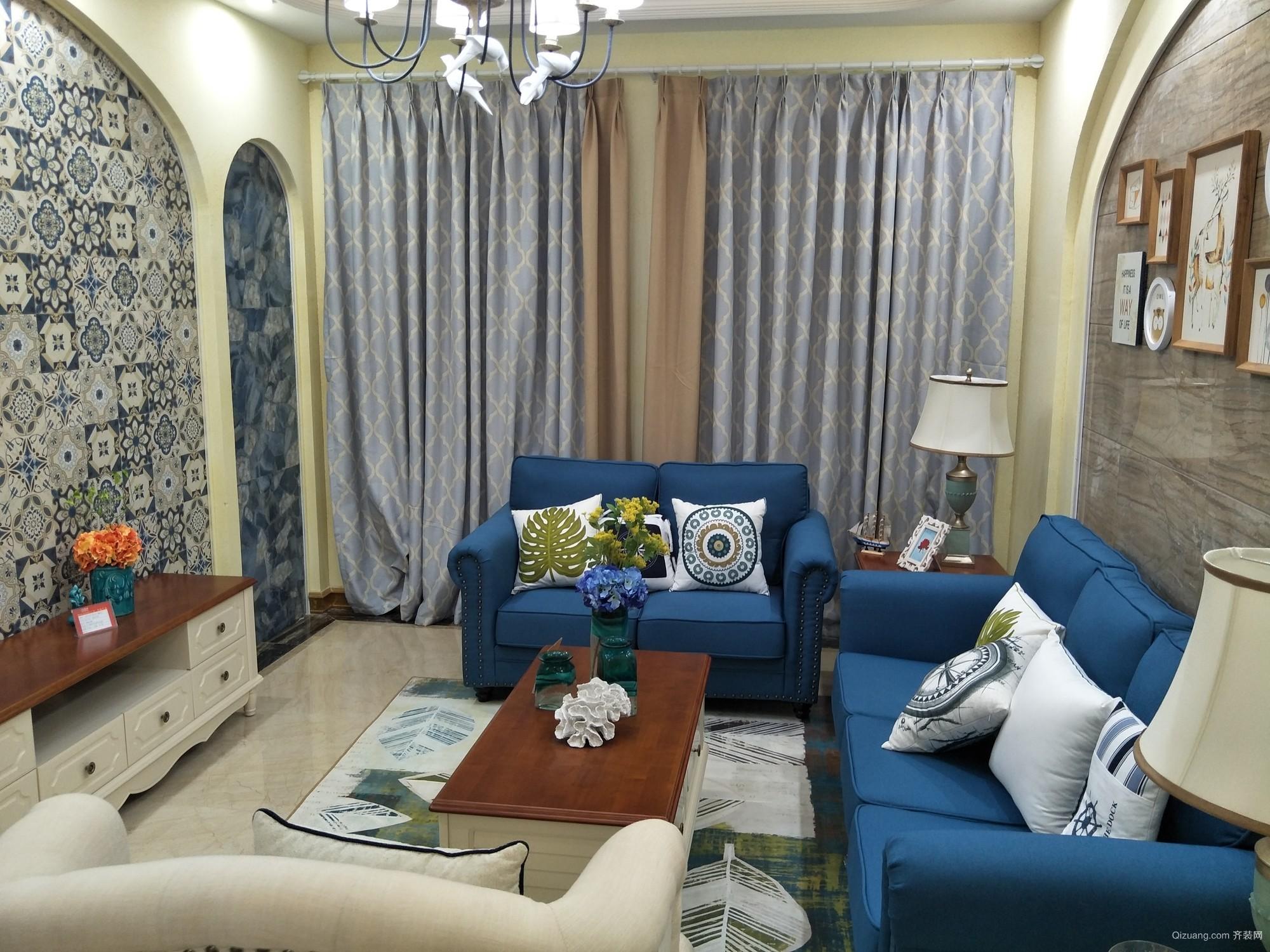 广州花园地中海风格装修效果图实景图