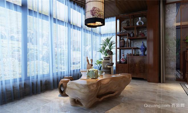 阳光汾河湾中式风格装修效果图实景图