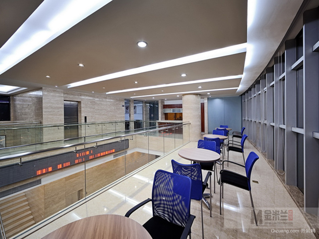 办公室装修现代简约装修效果图实景图