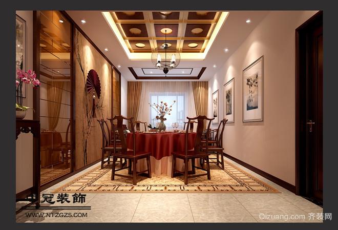 九华中式风格装修效果图实景图