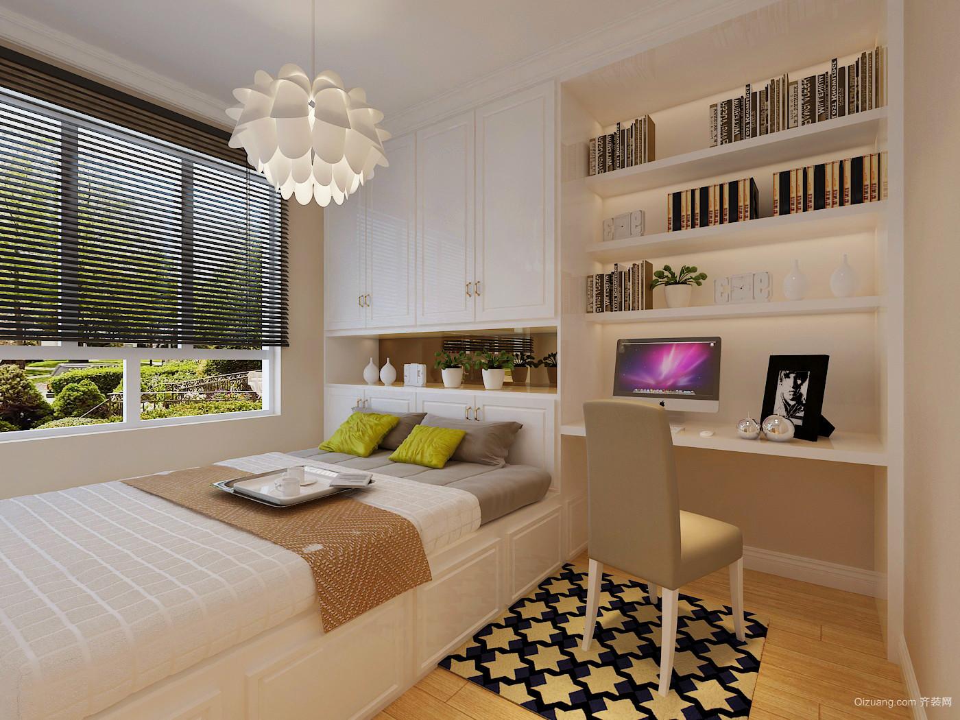 金色海湾·巧克力公寓现代简约装修效果图实景图