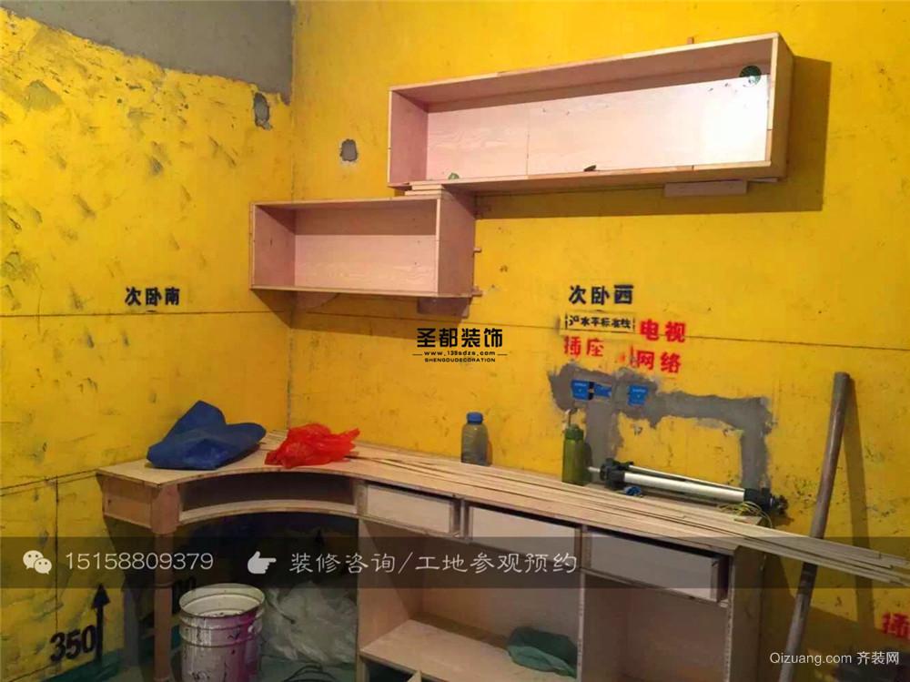 官河锦庭-木工阶段美式风格装修效果图实景图