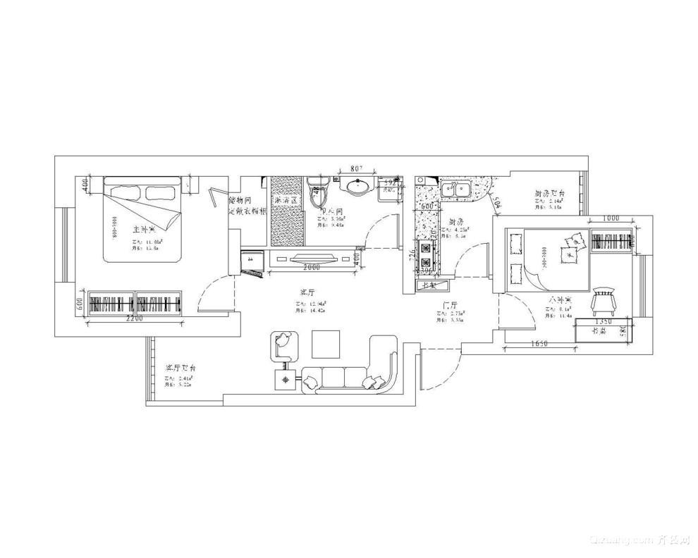 12中学宿舍田园风格装修效果图实景图