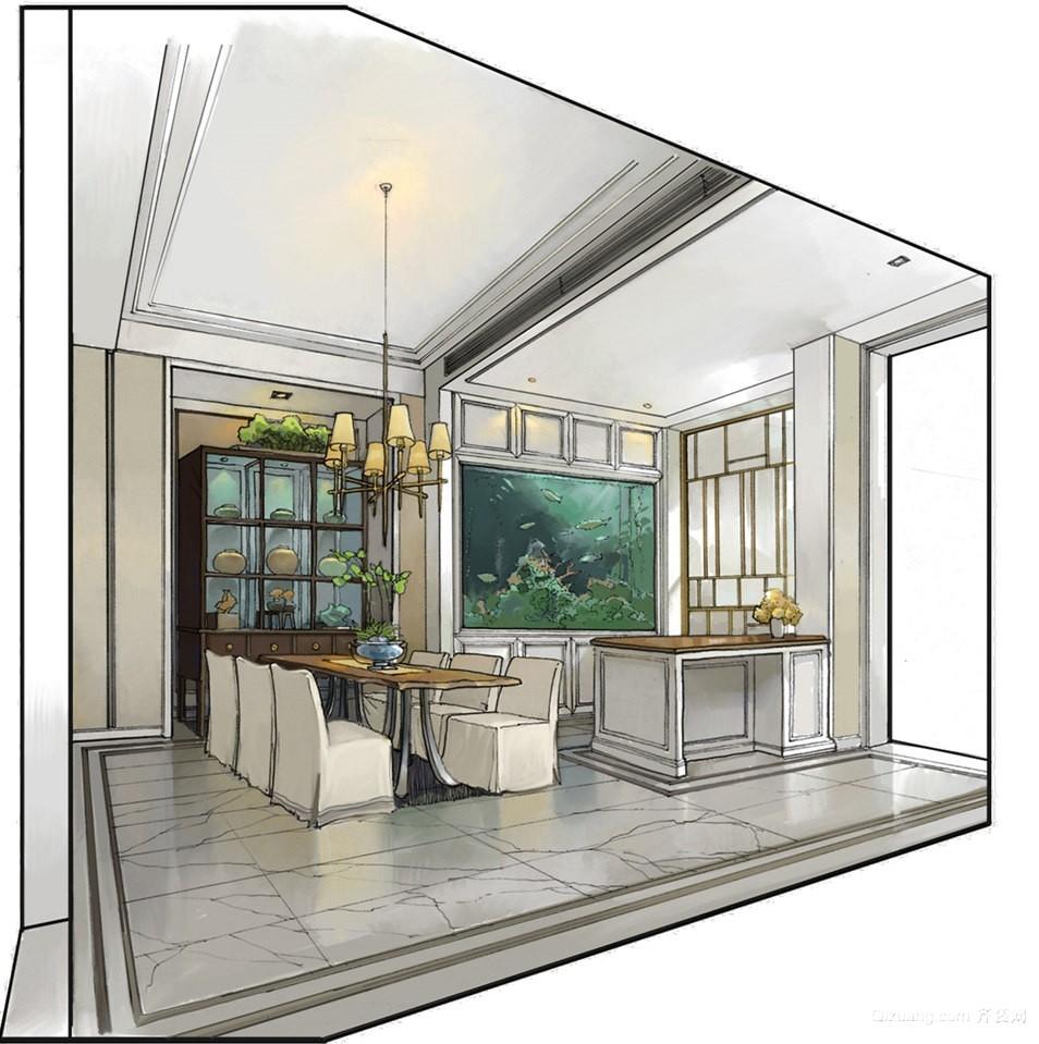 万通新新逸墅混搭风格装修效果图实景图