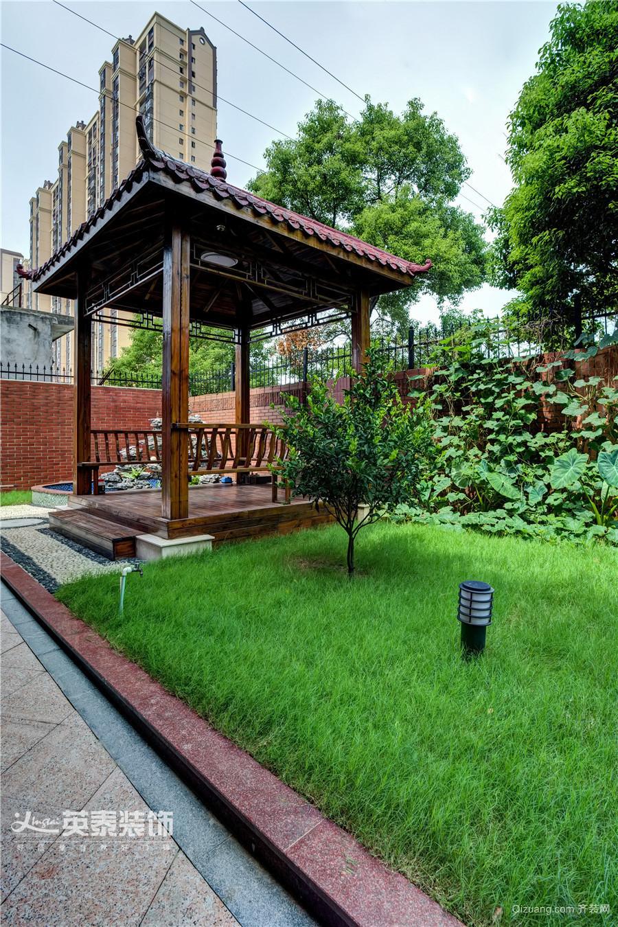 中大青山湖花园别墅-实景案例中式风格装修效果图实景图
