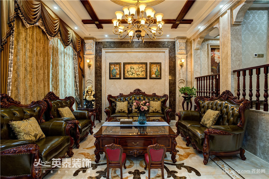 中海朝阳郡-实景案例美式风格装修效果图实景图