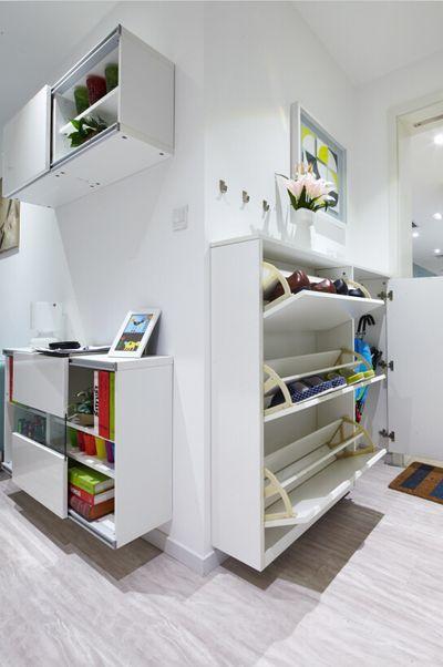 上饶69平北欧风小户型,储物空间装修设计案例