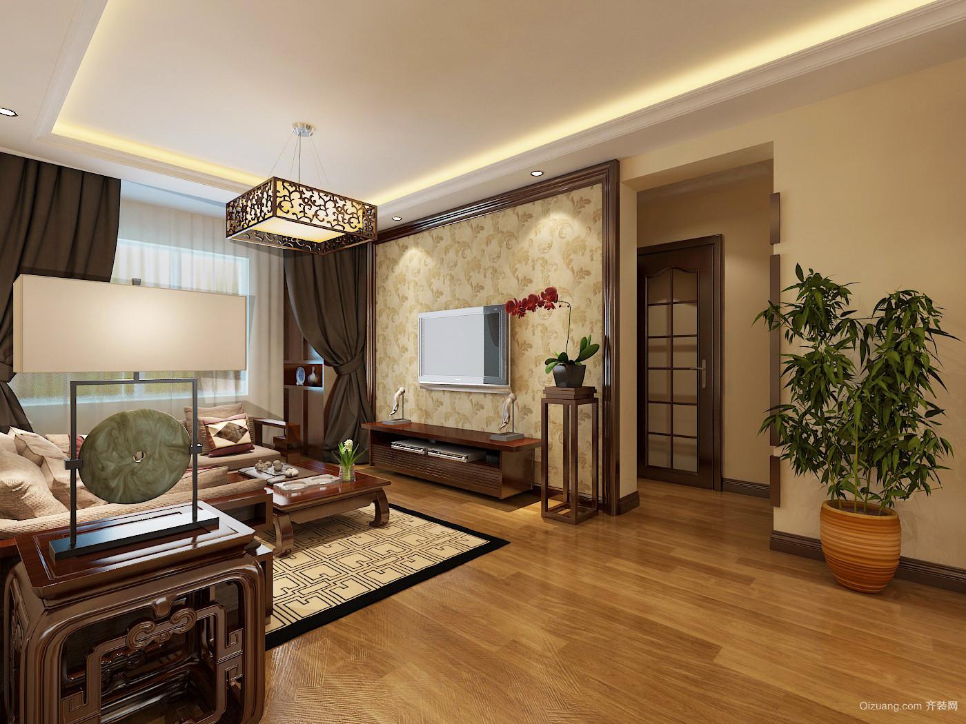 宝龙中央尊邸现代简约装修效果图实景图