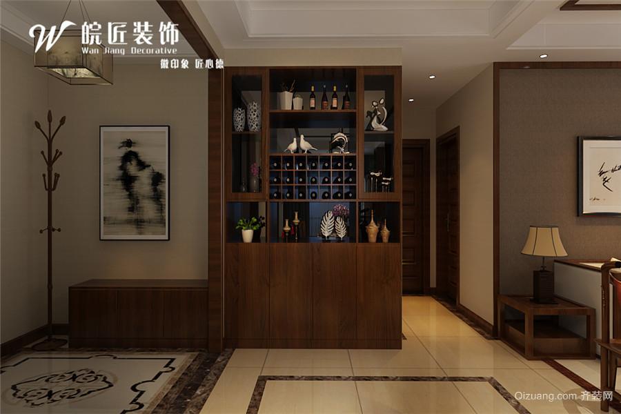 中铁国际城广园中式风格装修效果图实景图