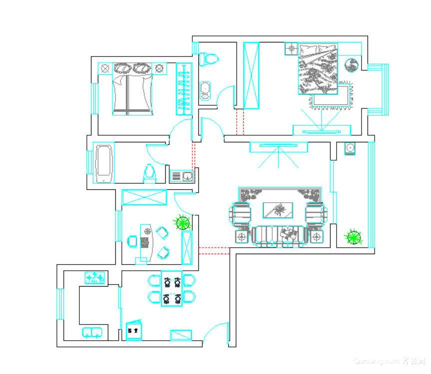 和谐家园现代简约装修效果图实景图