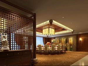 天津1500㎡中式风格装修效果图