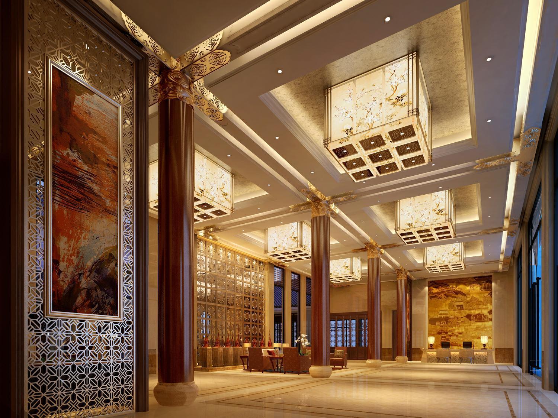 世纪泰达商务酒店中式风格装修效果图