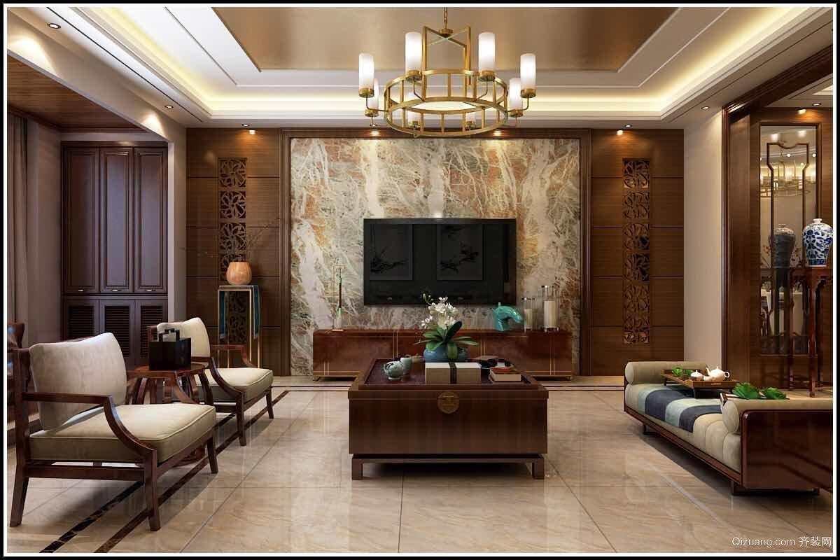 泰和福邸中式风格装修效果图实景图