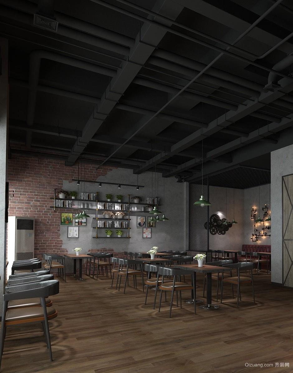 美式铁艺咖啡厅美式风格装修效果图实景图