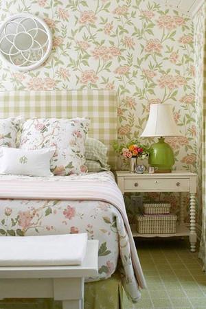 美式乡村田园风卧室软装
