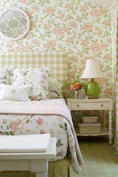 西安美式乡村田园风卧室软装装修设计案例