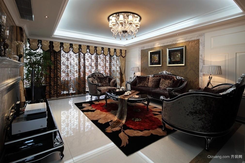 鹤伴豪庭欧式风格装修效果图实景图
