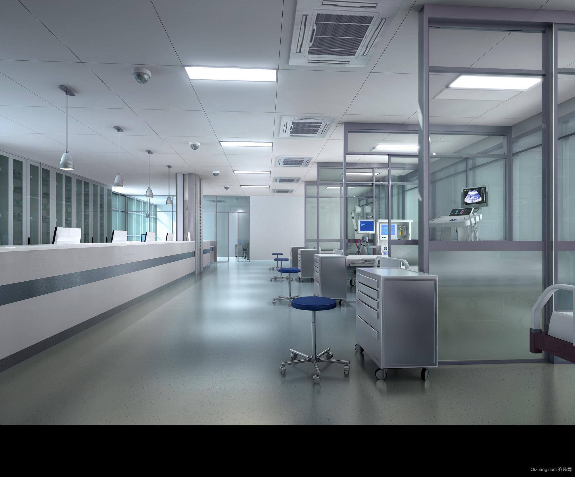 康复中心现代简约装修效果图实景图