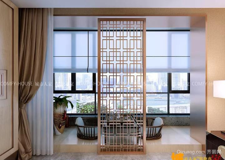 湖东郦城中式风格装修效果图实景图