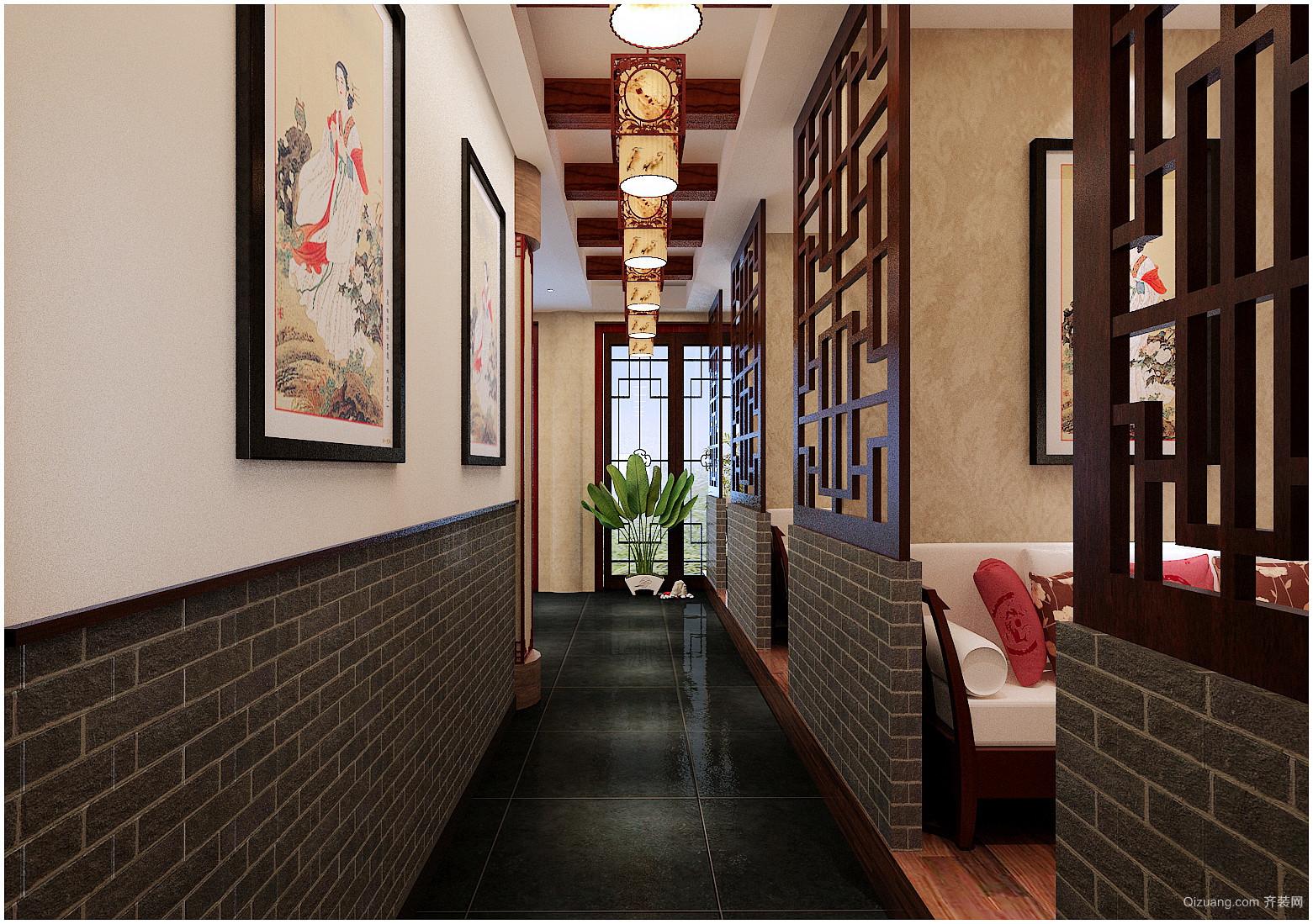 运河古街中式风格装修效果图实景图