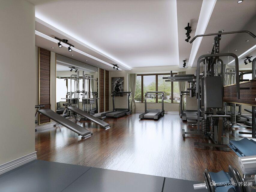 私人健身房现代简约装修效果图实景图
