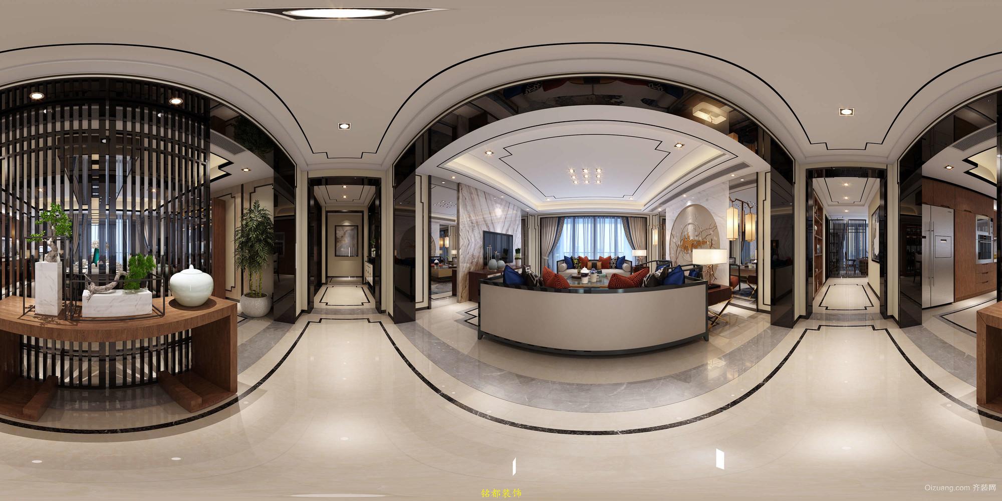 蓝湾·上林院中式风格装修效果图实景图