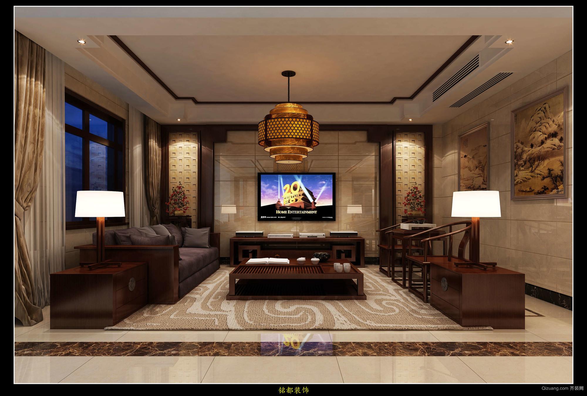 琅琊自建别墅中式风格装修效果图实景图