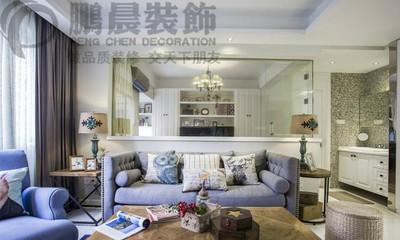 芜湖白金湾100平美式风格装修效果图装修设计案例