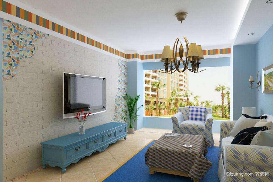 新华园小区地中海风格装修效果图实景图